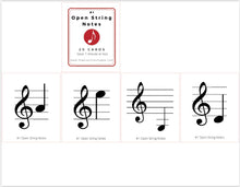 Load image into Gallery viewer, 10 Steps to Note Fluency for Violinists - 10 Sets of Flashcards (digital download)