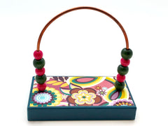 Flowers Bold Bead Counter - Turquoise Base