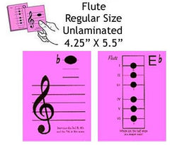 Flute Regular Unlaminated Flashcards