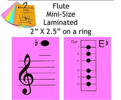 Flute Mini Laminated Flashcards