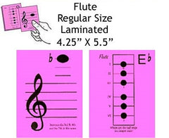 Flute Regular Laminated Flashcards