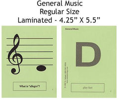 General Music Regular Laminated Flashcards