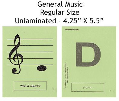 General Music Regular Unlaminated Flashcards