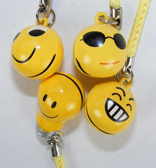 Happy Faces Bell Charm