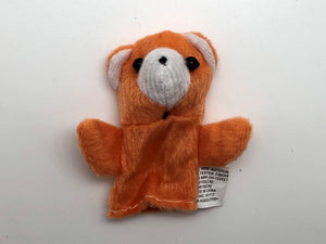 Bear Orange Finger Puppet