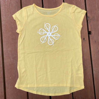Girls XL (14/16) - Treble Swirl - Yellow