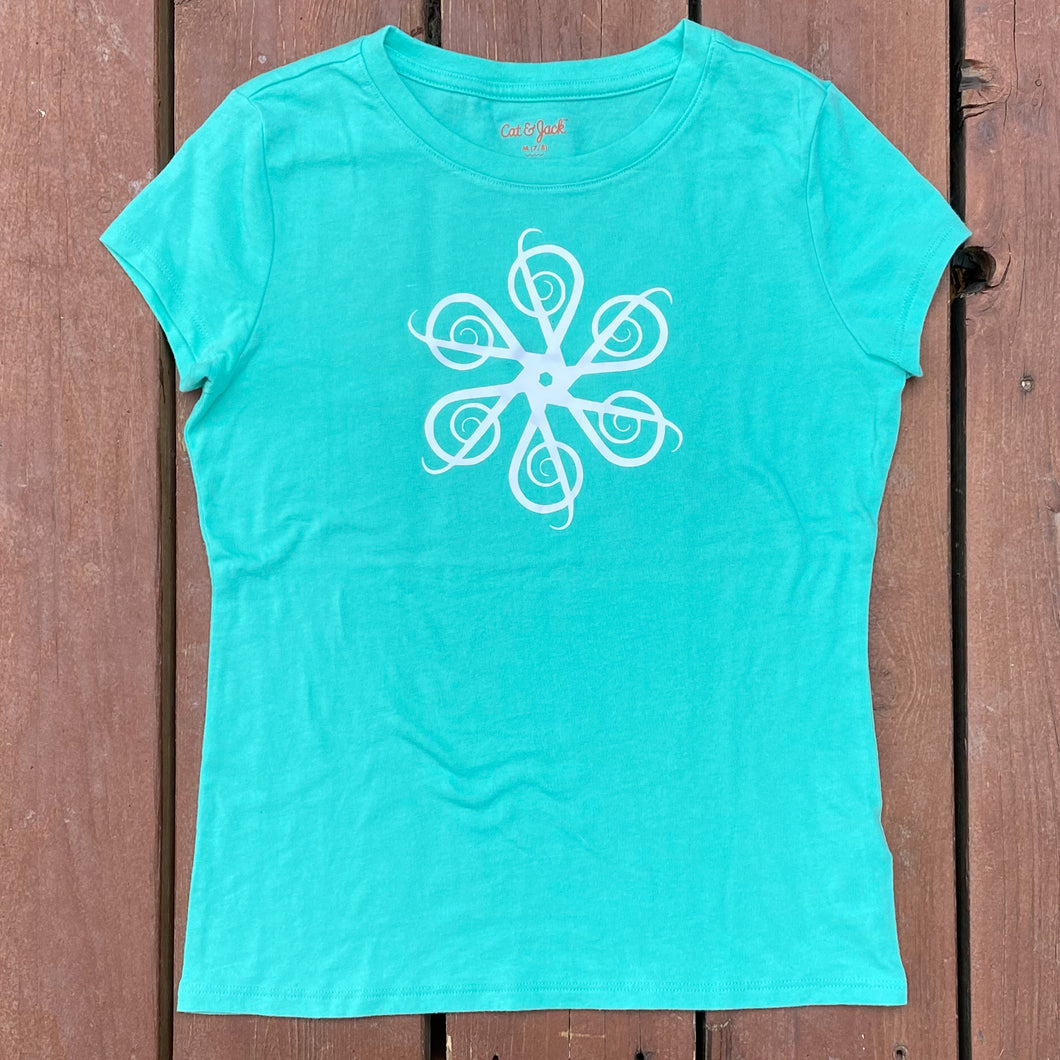 Girls M (7/8) - Treble Swirl - Mint