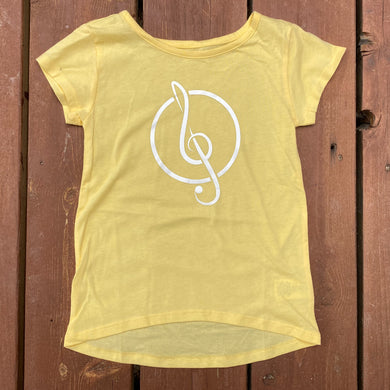 Girls XS (4) - Treble Clef - Yellow