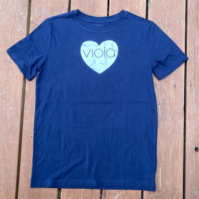 Boys L (12/14) - Viola Heart - Navy