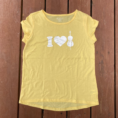 Girls XXL - I Heart Cello - Yellow