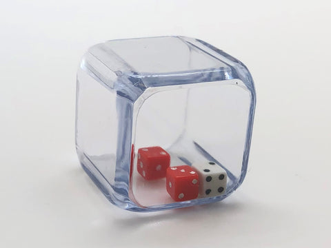 3 in a Cube Dice - 25mm - d6 (Red and White)