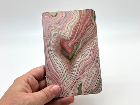 Mini Jotter Notebook - Pink Swirl