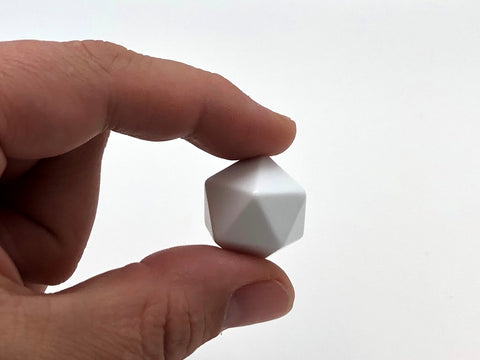 Blank Standard 20-Sided Die 20mm