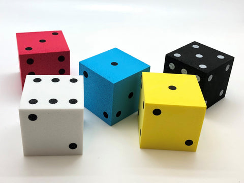 Foam Dice Spotted - Color varies - 50mm - d6