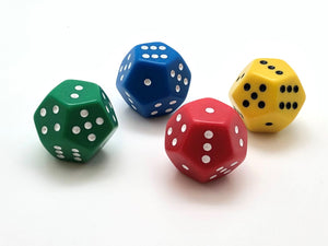 Standard 12-sided (D12) Dice - 1-6 Twice Spots