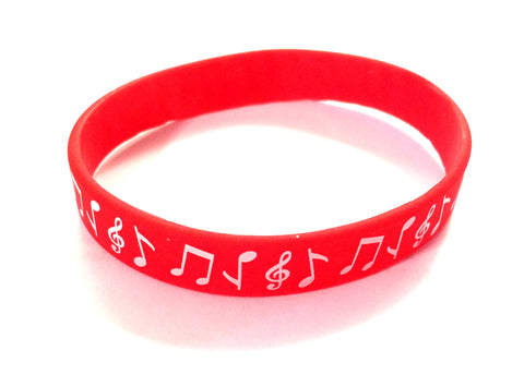 Silicone Music Bracelet - Red