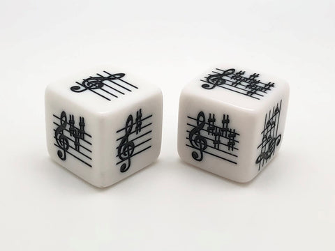 Key Signature Die - Treble Clef - Basic/Advanced - set of 2