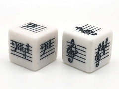 Key Signature Dice - Basic - Treble/Bass - set of 2