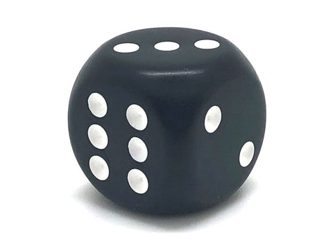 Six-Sided 32mm Large Opaque Dice - 32mm - d6 (Black)