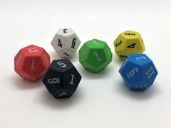 12-sided (D12) Soft Plastic Dice - 28mm