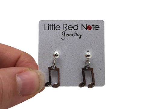 Eighth Note Beamed Charm Post Earrings