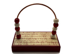 Music Red Christmas Music Bead Counter