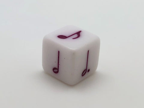 16 mm Notes Dice (Dark Pink)