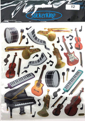 Instruments Shiny Stickers