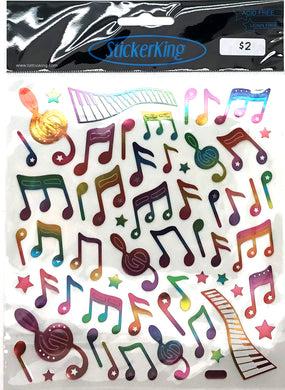 StickerKing Music Notes Rainbow Shiny Stickers