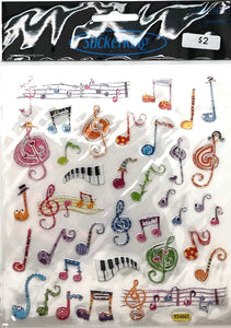 StickerKing Music Notes Multicolor Shiny Stickers