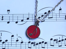 Load image into Gallery viewer, Eighth Note Red Circle Necklace