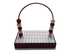 Chevron Design Red White Gray Bead Counter