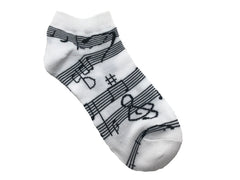 Ladies Ankle Socks - Music Staff