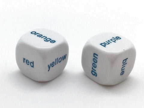 Color Words Dice- White - 19mm - d6