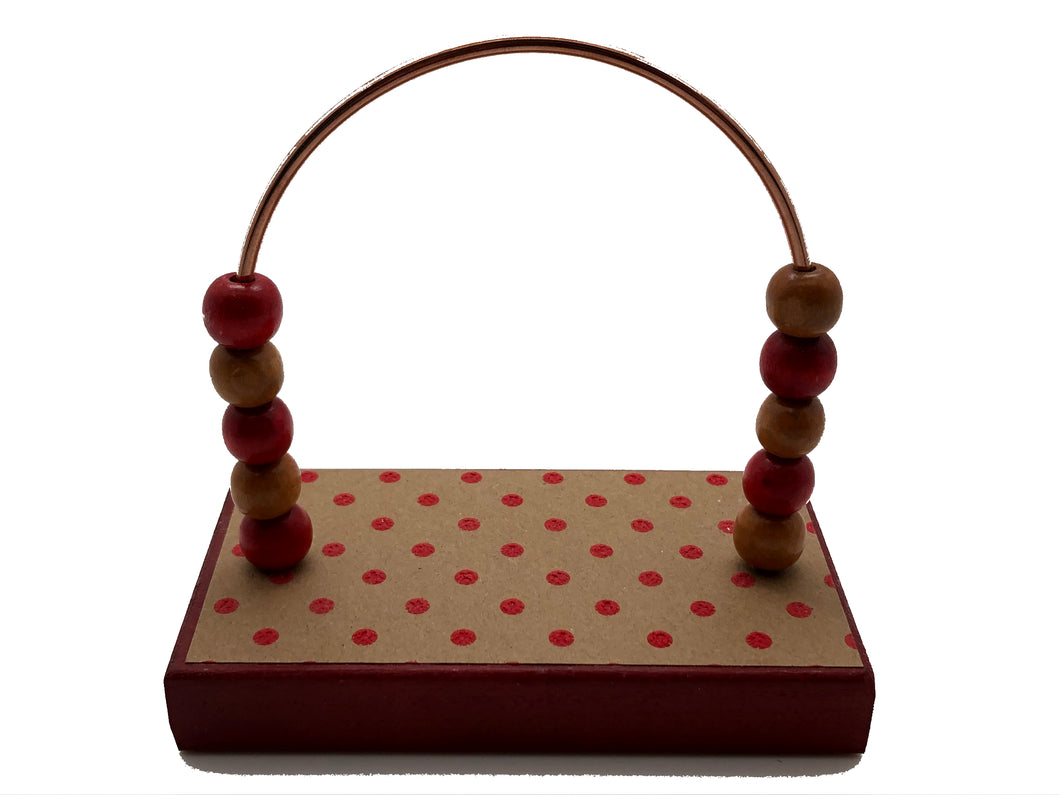 Dots Red Kraft Bead Counter