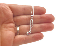 925 Sterling Silver 32nd Note Swirl Necklace