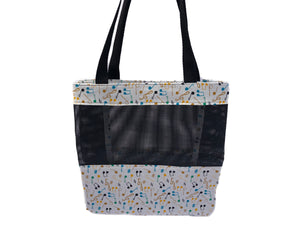 Music Tote Bag - Yellow, Blue, Green, Orange Notes