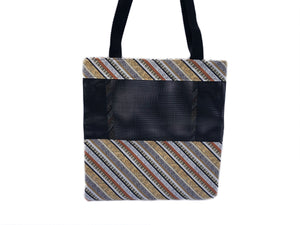 Music Tote Bag - Music and Piano Stripes