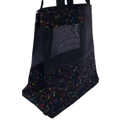 Music Tote Bag - Rainbow Notes