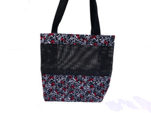 Load image into Gallery viewer, Music Tote Bag - Gray, Red, Black Notes
