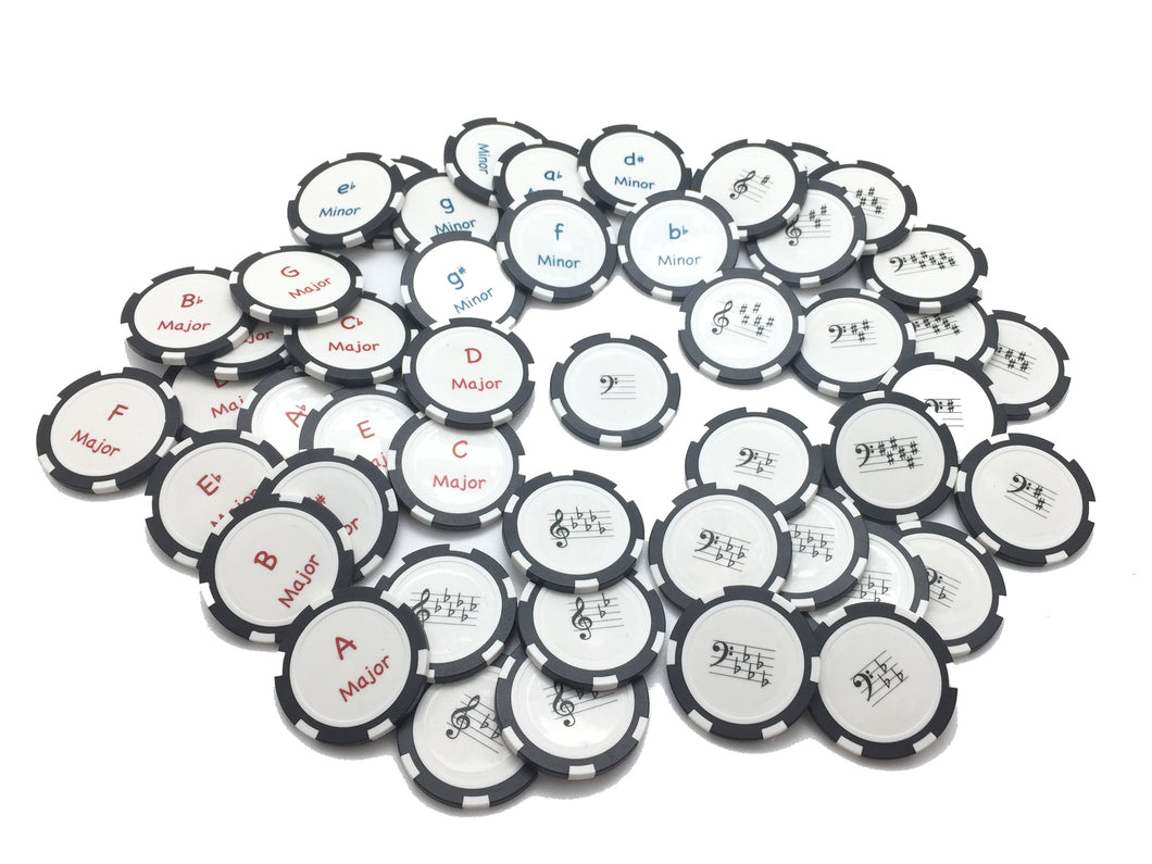 Key Signature Chips - Full Set - Black