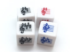 Key Signature Dice - Treble Clef - Sharps/Flats Basic/Advanced - Set of 4