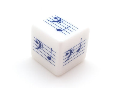 Pentatonic G Scale Notes Die - Base Clef (Blue) - Screen Printed