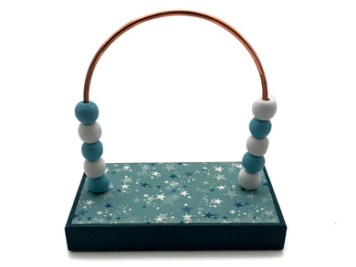 Stars Blue and Turquoise Bead Counter