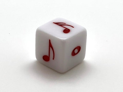 16 mm. Red Rhythm Note Dice