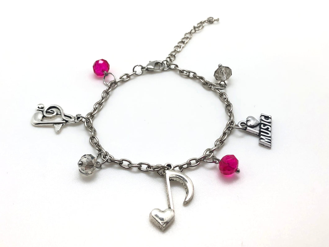 Music Charm Bracelet - Treble Eighth Note