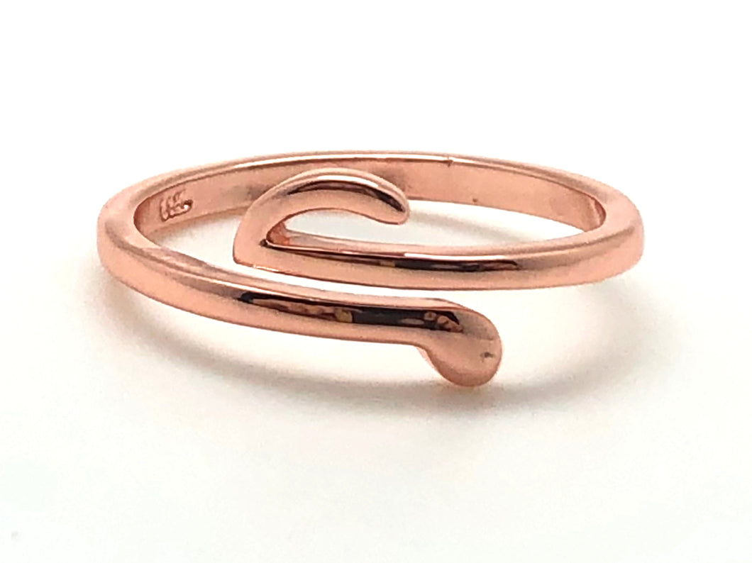 Stainless Steel Adjustable Note Ring - Rose Gold