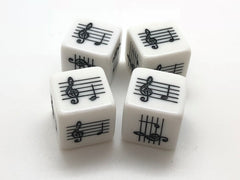 Middle C Five Finger Pattern Music Dice - Set of 4