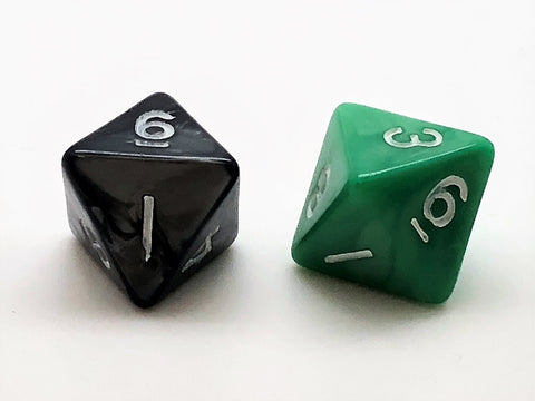 Standard 8-sided (D8) Dice - Marble