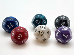 12-sided (d12) 16mm Dice - Marble